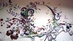 pictura pe perete - model decorativ by Mihaela A. Pavelescu