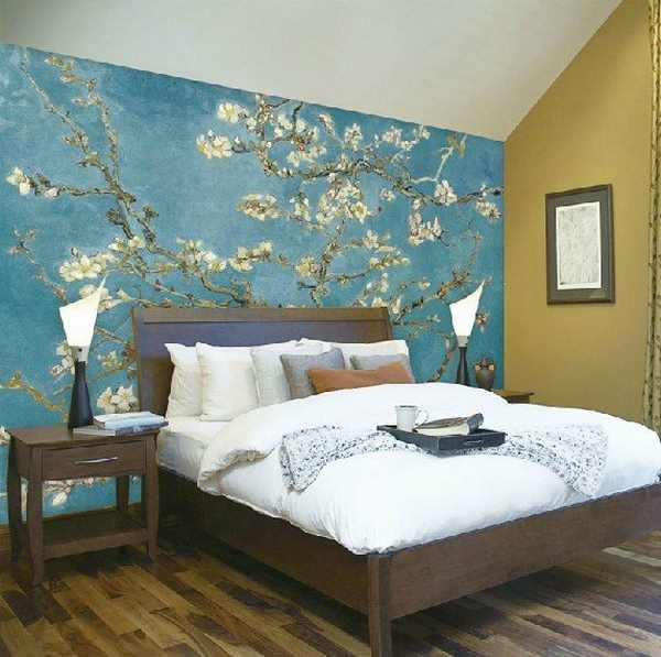 painting one wall a different color in a bedroom pictura pe perete idei inspirationale interior design 21338