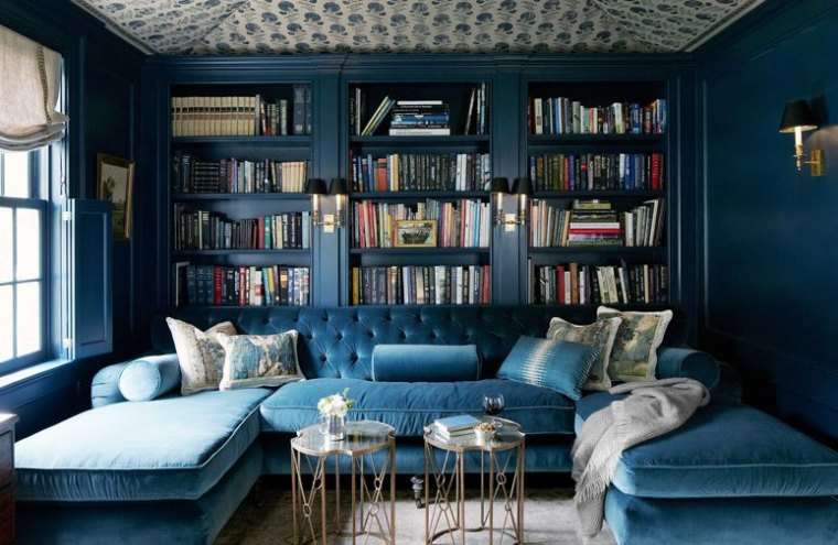 interior albastru
